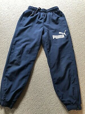 Navy Puma Shell Tracksuit Bottoms - Uk Size 24 (6 Years)