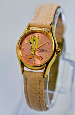 Vintage 1999 Ladies Armitron Gold Tone Tweety Bird Watch, Looney Tunes, 2200/478