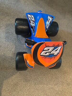 Chad Valley Powered 6V Quad Vehicle - Blue And Orange