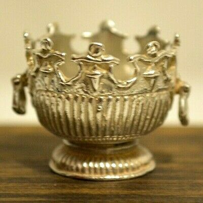 Miniature Sterling Silver Bowl Dollhouse 1:12 Monteith Bowl
