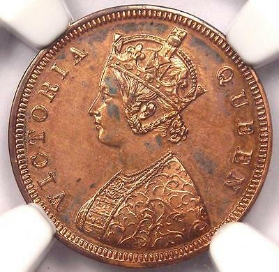 1862-C India Victoria Proof Restrike 1/12 Anna 1/12A - NGC Proof. Certified Coin