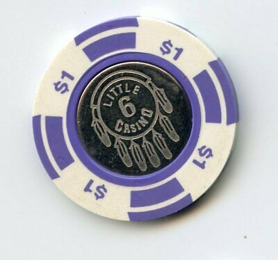 1.00 Chip from the Little Six Bingo Casino Prior Lake Minnesota Coin