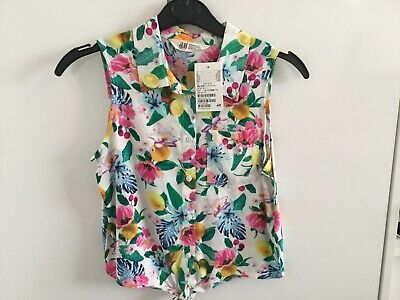 Girls H&M Sleeveless Blouse Aged 10-11 Years