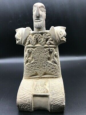 Royal GIANT Emperor Old Rare Bactrian Composite Stone Idol Figure