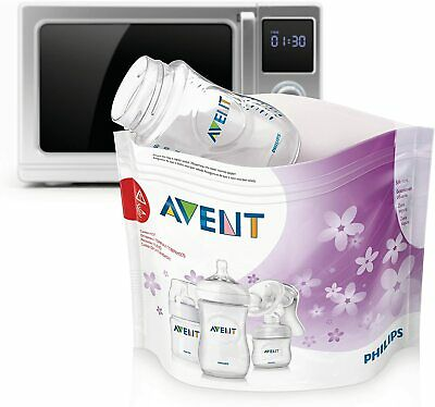 Phillips Avent Microwave Steam Steriliser Bags 5 Bags for 100 Cycle