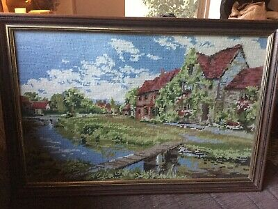 55x38.5 cm Framed Vintage Tapestry VGUC Surplus to need