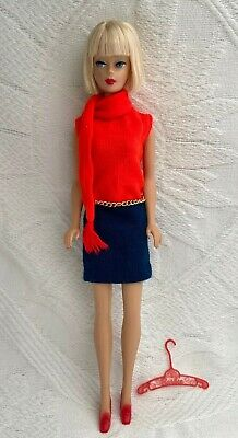 """Vintage MOD Chain Belt w// Disc made for Barbie Doll Dress #1478 /""""Shift into Knit"""