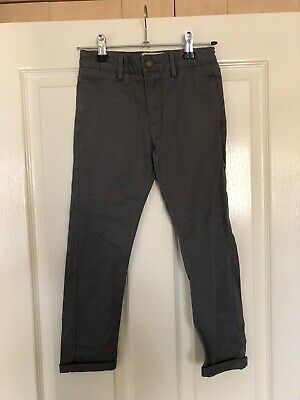Boys Matalan Grey Chino Trousers Age 7 Years