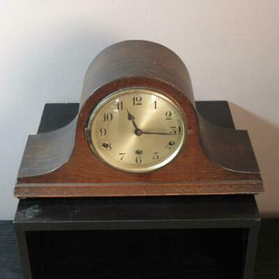Vintage German Wooden Mantel Clock w/ Chimes Made in Wurttemberg Spares/Repairs