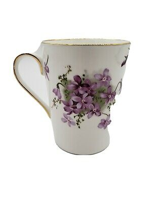 Hammersley Victorian Violets Porcelain Mug 10 fl oz Bone China Made in England