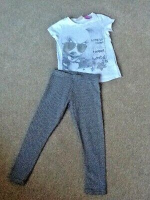 Girls Next leggings Age 5 years and a tea shirt from Next age 4 years
