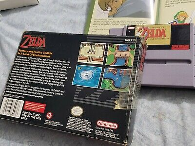 The Legend of Zelda A Link to the Past SNES Complete + Map Included NO RESERVE!