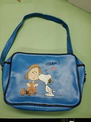 Peanuts Peppermint Patty & Snoopy blue  shoulder bag purse