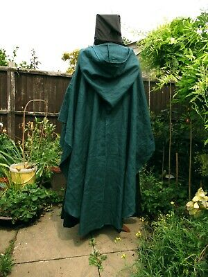 pagane Rusticdark Navy Waxed Cotton cloak-legoslas LOTR LARP