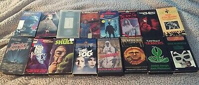 Lot of 16 Rare Vintage Horror Slasher VHS Tapes Tested The Crazies Wicker Man