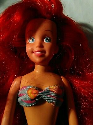 "1991 Vintage TYCO Disney's The Little Mermaid Ariel 9 1/2"" poseable doll"