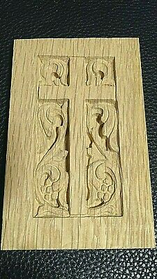 Church Gothic Architectural oak Wood carved Ornamental art cross icon plaque