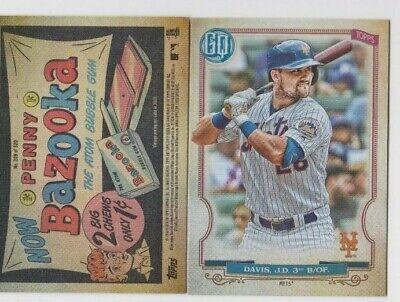 J.D. Davis 2020 GYPSY QUEEN BAZOOKA BACK PARALLEL SP #209 NEW YORK METS
