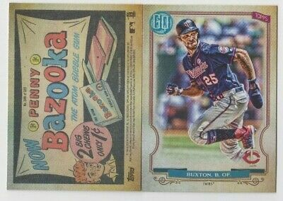 Byron Buxton 2020 GYPSY QUEEN BAZOOKA BACK PARALLEL SP #289 MINNESOTA TWINS