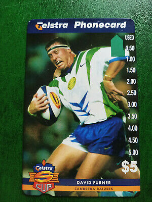 $5 1997 Super League - Canberra Raiders - David Furner Phonecard Prefix 1506