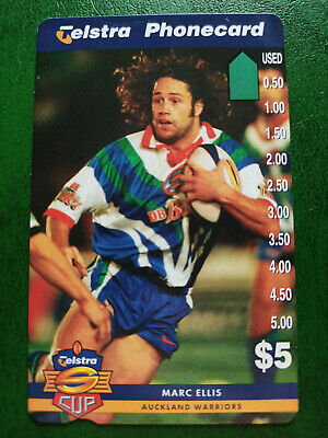 $5 1997 Super League - Auckland Warriors - Marc Ellis Phonecard Prefix 1506