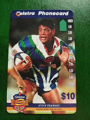 $10 1997 Super League - Auckland Warriors - Steve Kearney Phonecard Prefix 1506