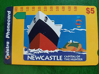 $5 Newcastle - Capital Of The Hunter Phonecard Prefix 1487