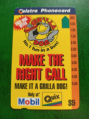 $5 Grilla Dog - Make The Right Call Phonecard Prefix 1488