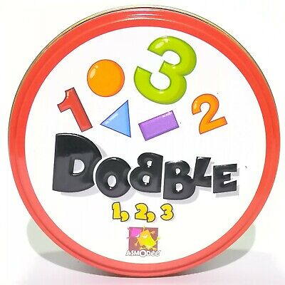 Spot It! Dobble 1234 Number & Shape Version Asmodee Board Educational Game Card