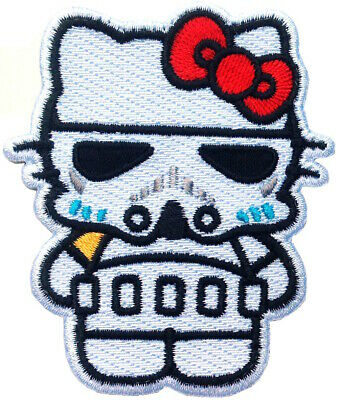 Hello Stormtrooper Kitty Star Wars Iron on Patch