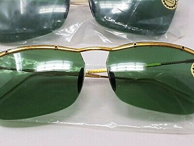 NOS Vintage Sabre Unbreakable Sunglasses Green Lens LOT OF 5 PIECES 1950 - 1960