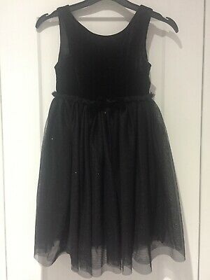 Beautiful Girls Black 3 layer Party Dress H&M Size 7 to 8 Years Ex Condition