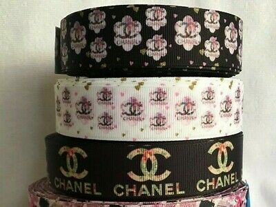"""Grosgrain Ribbon 1"""" wide designs sold by 2m see listing"""