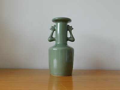 Chinese Longquan Caledon Kinuta Porcelain Mallet Vase in Ancient Song Style