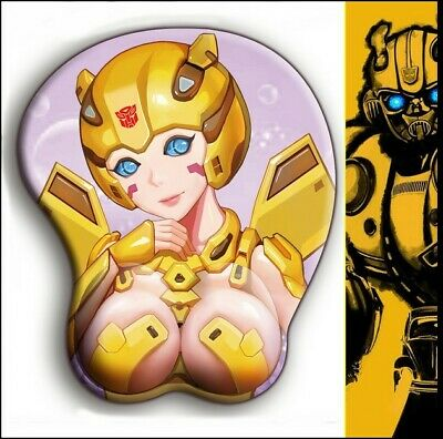 Play Mat gift Anime Mouse Pad Transformers Bumblebee 3D Soft Hip Mouse Pad