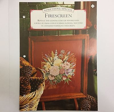 Needlework pattern: Summer Flowers tapestry design and instructions