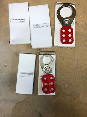 """5 X Isolation Lock Off / Lock Out Hasp 3 X 1 1/2"""" And 2 X 1 """" New In Box"""