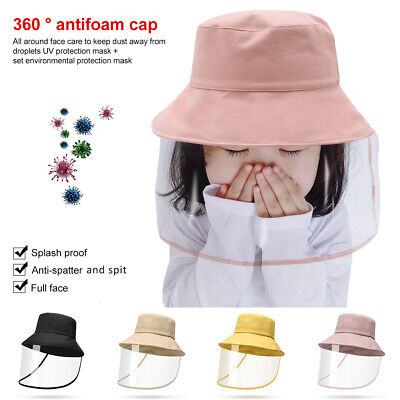 Anti-fog Cap Clear Full Face Splash-proof Face Protective Shield Kids Hat Cover