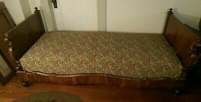 Empire Rosewood Daybed Sofa 19th C Antique Inexpensive shipping to East Coast