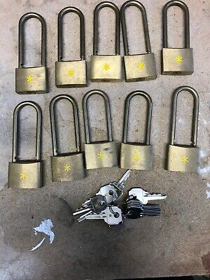 10 X Castell ISO-LOK Padlock Keyed Alike Lock Off / Lock Out