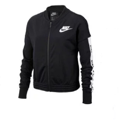 NIKE Sportswear Girls Black White Tracksuit Jacket 9-11 Years BNWT