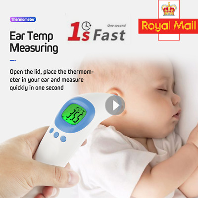 Baby/Adult IR Infrared Digital Termometer Non-Contact Forehead Thermometer UK