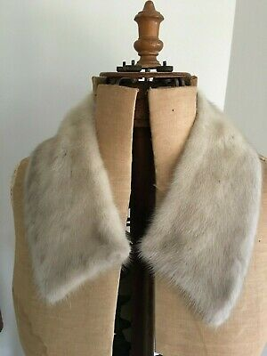 Vintage Fur Collar - possibly Mink - Soft Grey Colour