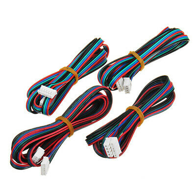 FLSUN 4PCS 1M 4Pin Nema 17 Stepper Motor Cable Compatible With MKS Series For 3