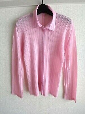 issey miyake pleats please tops size 3 made in japan good pink shirts
