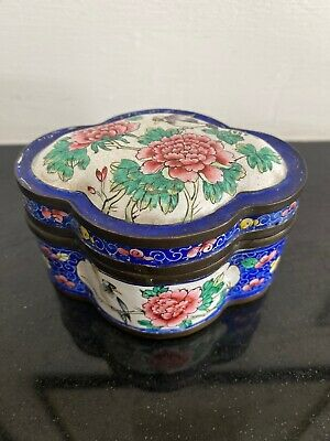 A 19th Century Chinese Decorated Enamel Box And Cover