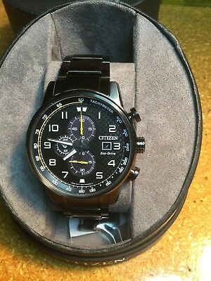 Citizen Men's Chronograph Eco-Drive Primo Grey Stainless Steel Watch CA0687-58E