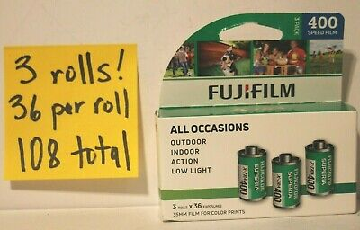 3 Pack Fuji Superia X-TRA ISO 400 36 Exp. 35mm Color Film 108 total 3 rolls