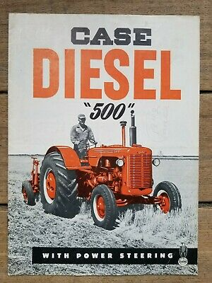 """J. I. Case Co. Diesel """"500"""" with Power Steering Catalog"""
