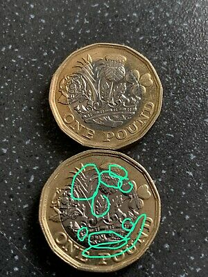 £1 ONE POUND COIN MISPRINT Both Sides + MINT ERROR  COLLECTABLE NO DATE